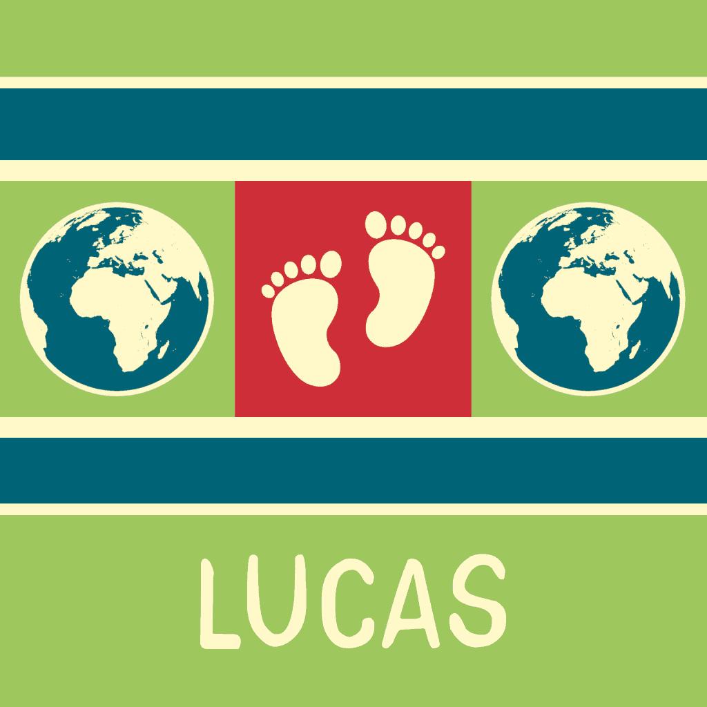 Voorkant geboortekaartje Lucas
