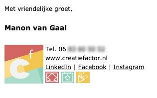 E-mailhandtekening Creatiefactor