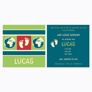 Geboortekaartje Lucas