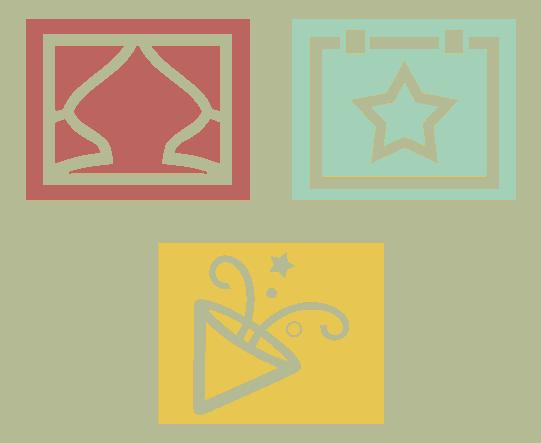 door Team Rood ontworpen social media iconen