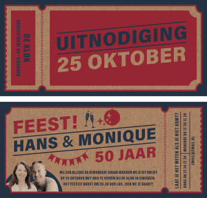 Festival ticket uitnodiging