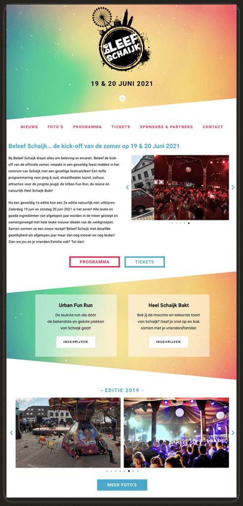 Beleef Schaijk festival website