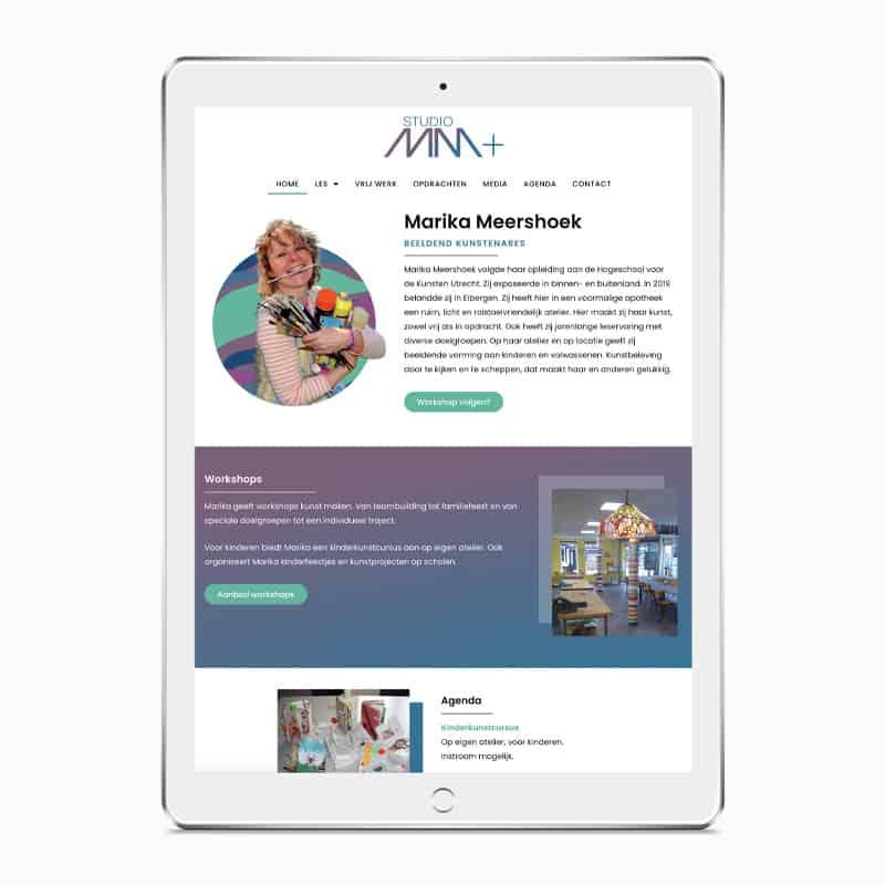 Marika Meershoek website responsive