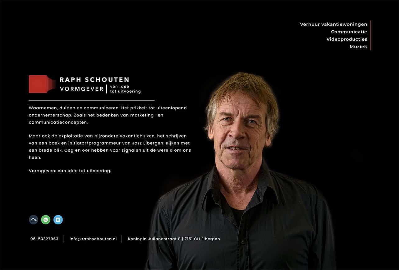 Website en logo Raph Schouten