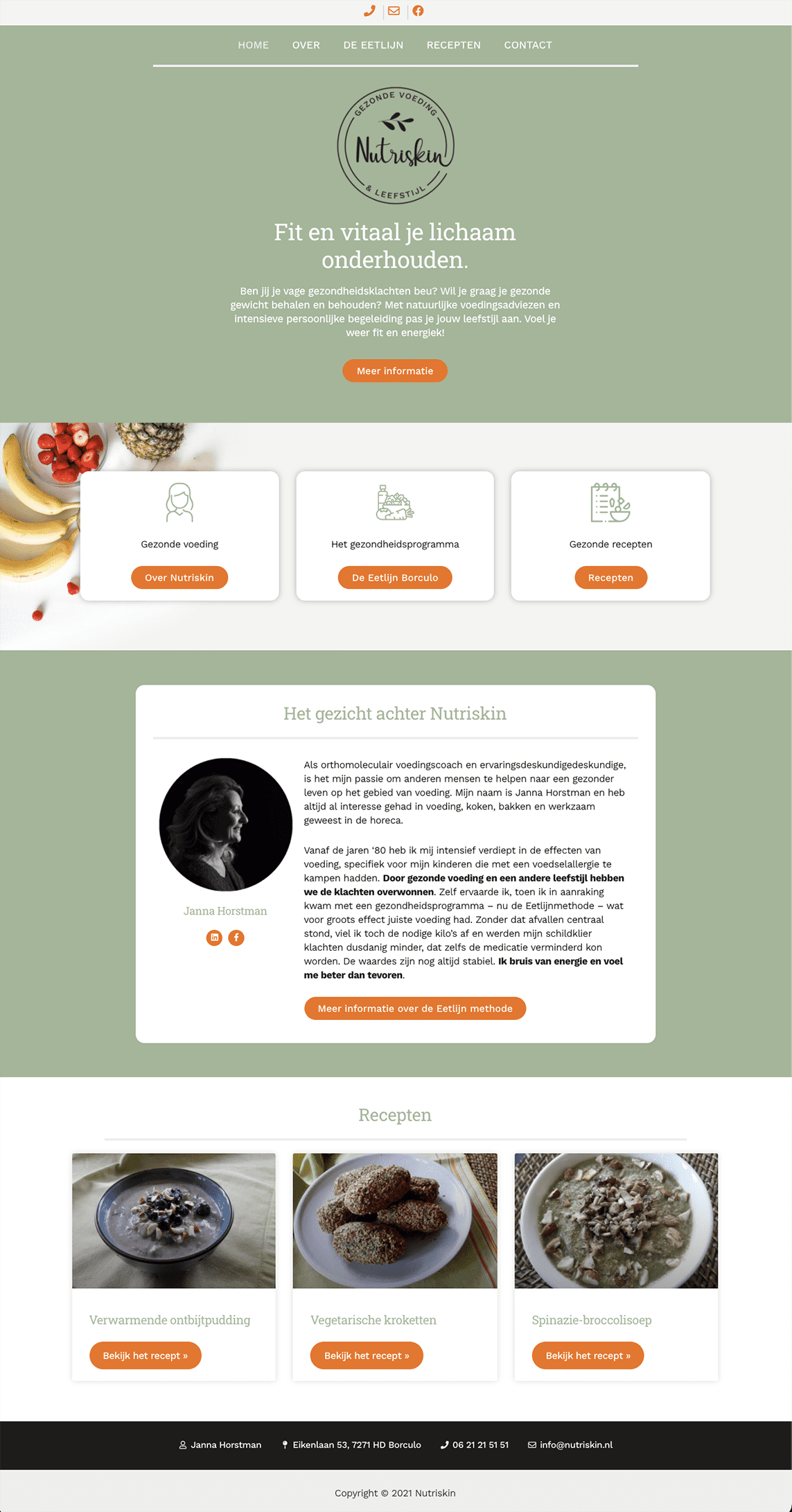 Webdesign Nutriskin